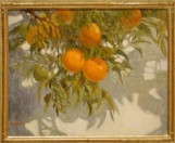 Oranges Against Shadows Watercolor