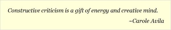 Quote on Constructive Criticism